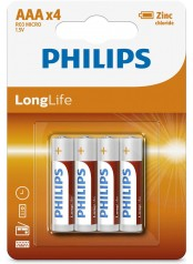 baterie LONG LIFE 4ks (R3L4B/10, AAA, 1,5V)