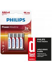 baterie POWER ALKALINE 4ks blistr (LR03P4B/10, AAA, 1,5V)