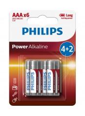 baterie POWER ALKALINE 4+2ks blistr (LR03P6B/10, AAA, 1,5V)