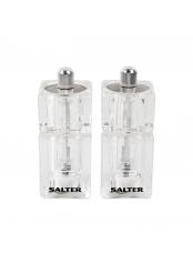 Salter 7605CLXR mini - Souprava dvou mini mlýnků na sůl a pepř